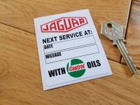"Jaguar 'With Castrol Oils' Service Sticker. 3""."