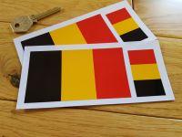 Belgium Flag Stickers. Set of 4.