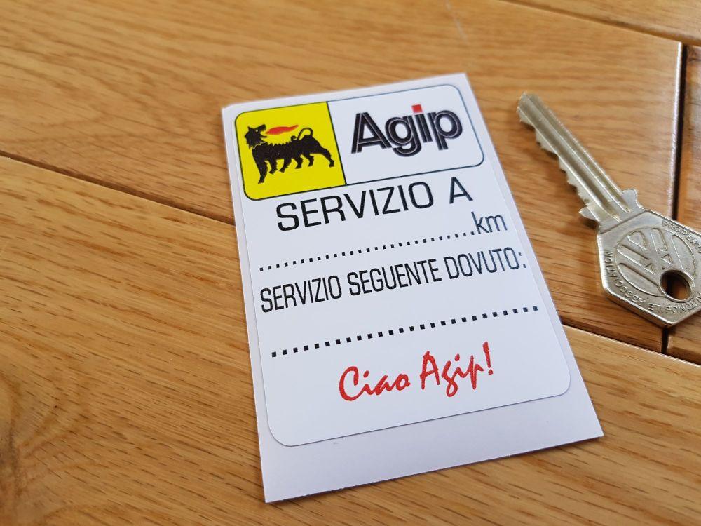 Agip 'Ciao Agip!' Servizio Service Sticker. 2.75
