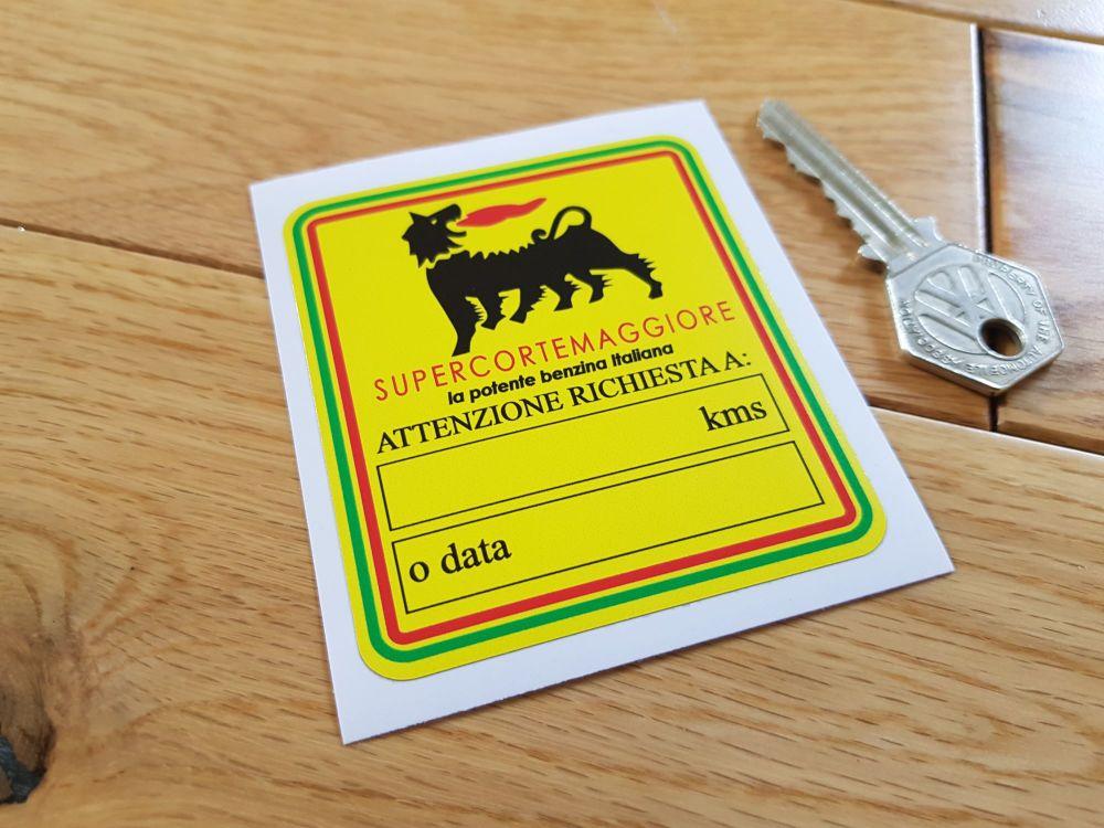 """Supercortemaggiore 'Attenzione' Service Sticker. 3""""."""