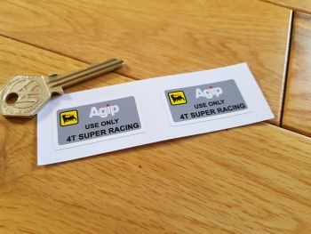 "Ducati Agip 4T Super Racing Engine Stickers. 1.5"" Pair."