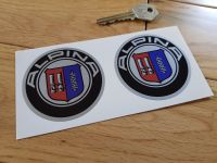 BMW Alpina Roundel Stickers. 35mm, 63mm, 65mm, 68mm, 70mm, or 80mm Pair.