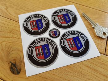 BMW Alpina Wheel Centre Stickers. Set of 4. Various Sizes.