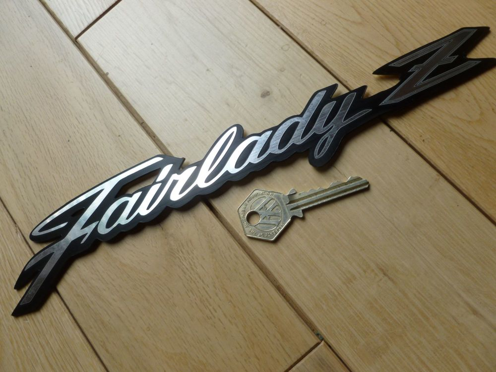 "Fairlady Z Datsun Nissan Self Adhesive Car Badge. 6"", 7"", or 11""."