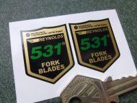 Reynolds 531 Fork Blade Stickers. 28mm Pair.