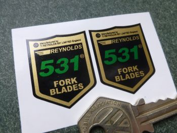 Reynolds 531 Fork Blade Stickers. 28mm Pair.