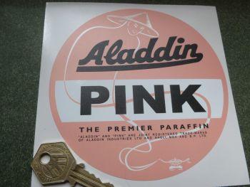 """Aladdin Pink Premier Paraffin Sticker. 5""""."""