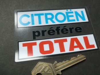 "Citroen Prefere Total Window Sticker. 4""."