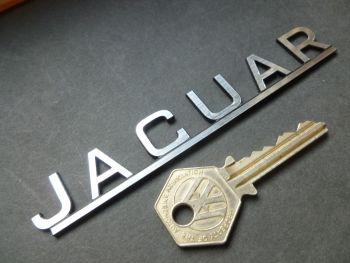 "Jaguar 50's & 60's Style Text on Bar Laser Cut Self Adhesive Car Badge. 5""."