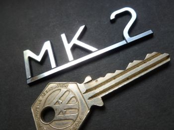"Jaguar 50's & 60's Style MK2 Text on Bar Laser Cut Self Adhesive Car Badge. 2.5""."