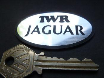 "TWR Jaguar Oval Logo Laser Cut Self Adhesive Car Badge. 2.5""."