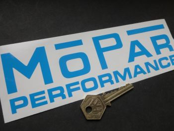 "MOPAR Performance cut vinyl Oblong Stickers. 8"" Pair."