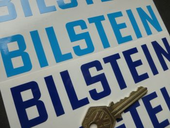 "Bilstein Cut Vinyl Stickers. 6"" Pair."
