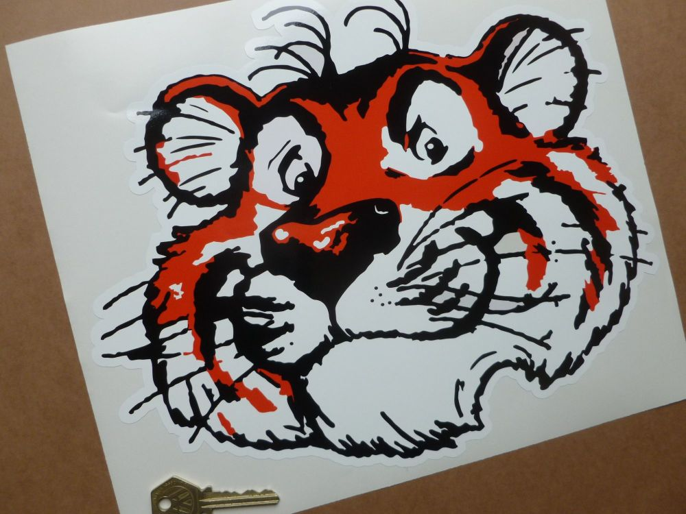 Esso Tiger Head Large Sticker. 12""