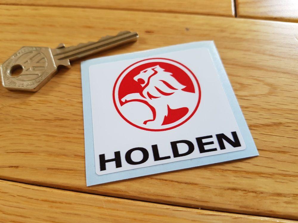 "Holden Square Logo Sticker. 2""."