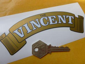 "Vincent Gold Scroll Sticker. 6""."