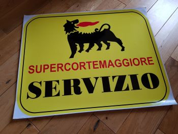 """Supercortemaggiore Servizio Service Sticker. 20.5""""."""