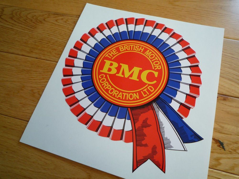 "BMC Shaded Style Rosette Sticker. 14""."