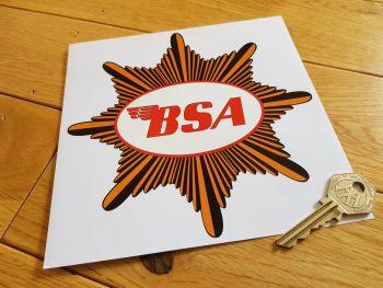 """BSA Gold Star Shaped Sticker. 6.5""""."""