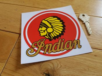 "Indian Motorcycles Circular Chief Sticker. 5""."