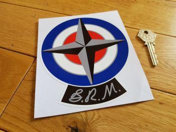 "B.R.M British Racing Motors Plainer Logo Sticker. 5.75""."