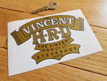 """Vincent H.R.D Gold Scroll Sticker. 6""""."""