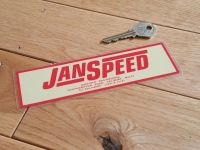 Janspeed Engineering Window Sticker. 6.5