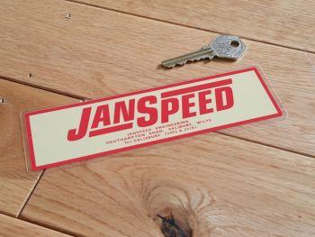 "Janspeed Engineering Window Sticker. 6.5""."