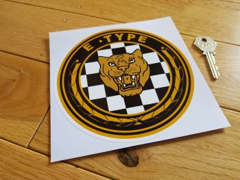 "Jaguar E Type Growler Sticker. 6""."