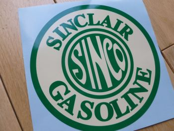 "Sinclair Sinco Gasoline Circular Sticker. 6""."