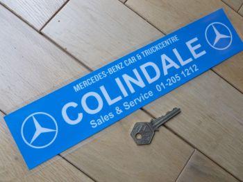 "Mercedes Benz Colindale Car & Truck Centre Dealers Window Sticker. 12""."