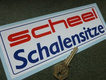 "Scheel Schalensitze Oblong Sticker. 8""."