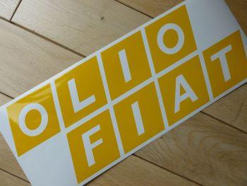 "Olio Fiat Cut Vinyl Sticker. 14""."