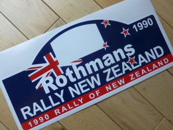 "Rally New Zealand 1990 Rally Plate Style Sticker. 16""."