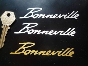 "Bonneville Cut Vinyl Text Sticker. 4""."