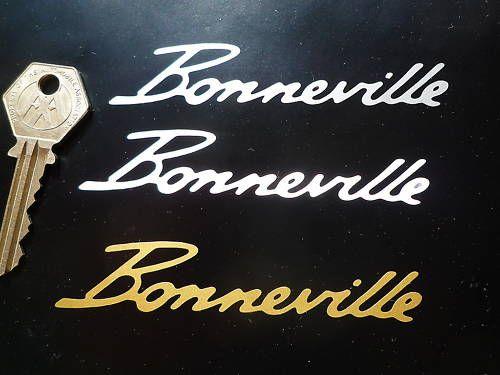 "Bonneville Cut Vinyl Text Sticker. 4""."