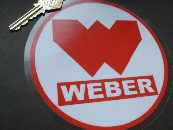 Weber Large Circular Window Sticker. 145mm.