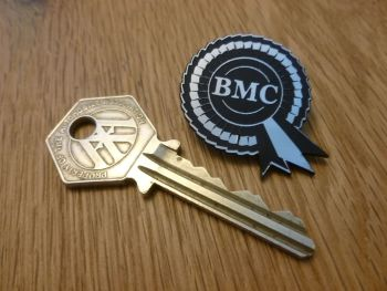 "BMC Rosette Style Laser Cut Lapel Pin Badge. 1.5""."