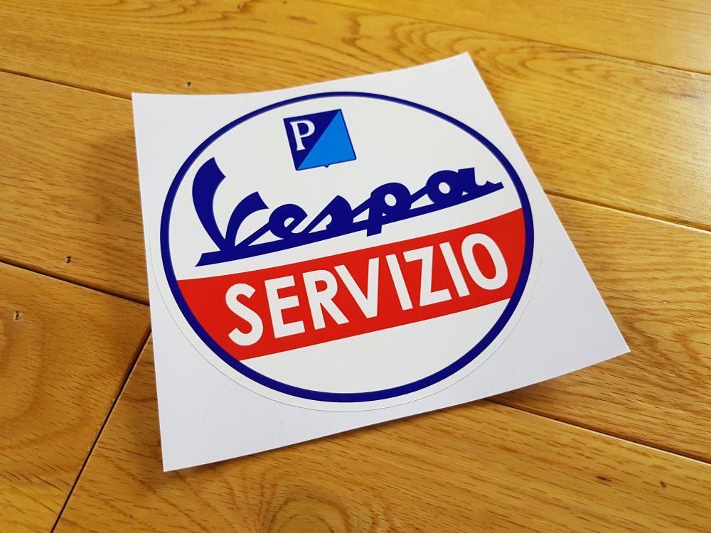 Vespa Piaggio Circular 'Servizio' Sticker. 6