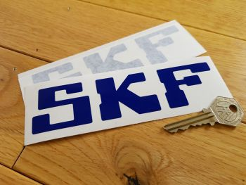 "SKF Cut Vinyl Stickers. 6"" Pair."