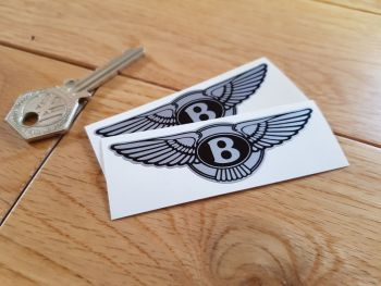 "Bentley Winged Logo Stickers. 3"" Pair"