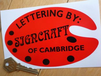 "Signcraft of Cambridge Old Style Palette Shaped Sticker. 6""."