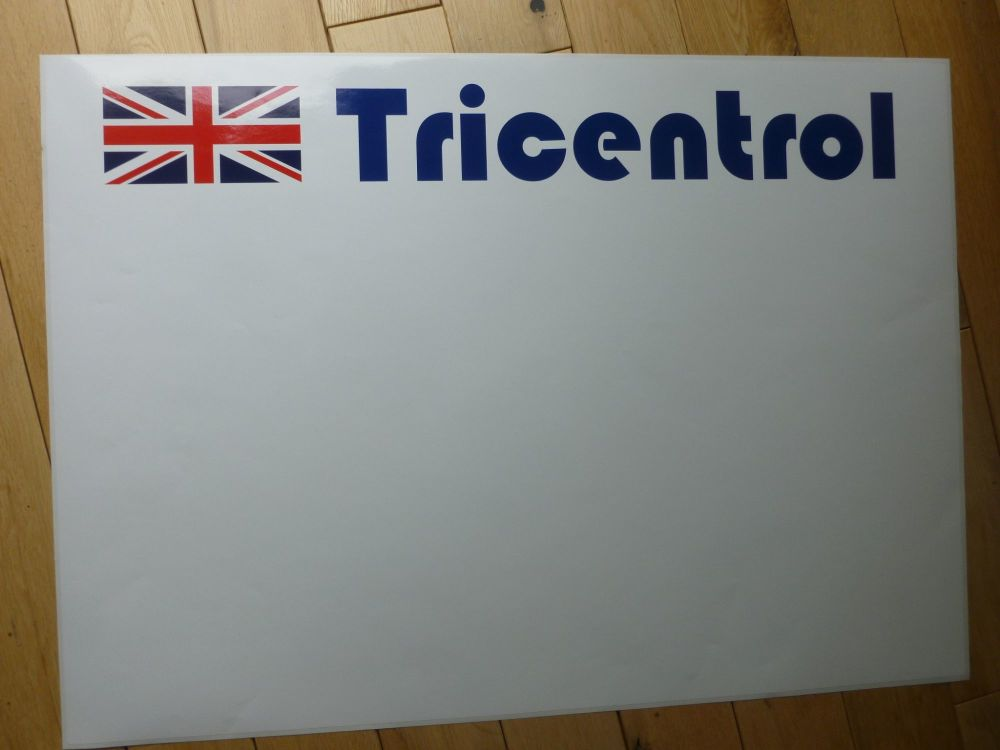 """Tricentrol Plain Style Rally Door Panel Stickers. 27.5"""" Pair."""