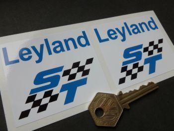 """British Leyland ST Chequered Stickers. 2.75"""" Pair."""