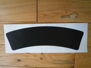 Curved Black Stick on Scooter or Motorcycle Number Plate Background. Thick Style. 295mm x 74mm.