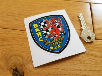 "BARC British Automobile Racing Club Shield 'Lick & Stick' Static Cling Sticker. 3""."