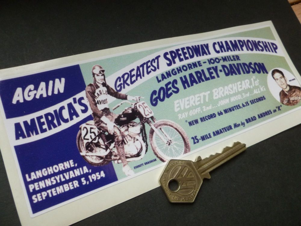 Langhorne Speedway Pennsylvania 100 Mile Race Sticker. 8