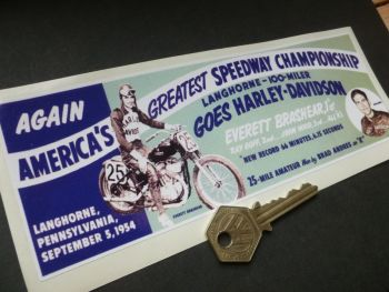 "Langhorne Speedway Pennsylvania 100 Mile Race Sticker. 8""."