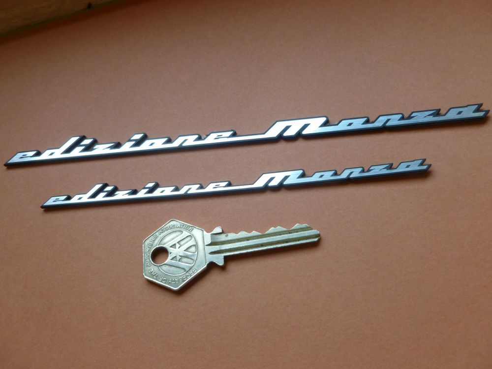"Edizione Monza Laser Cut Self Adhesive Car Badge. 6"" or 8""."