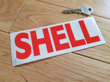 "Shell Face Stick Cut Vinyl Sticker. 6""."